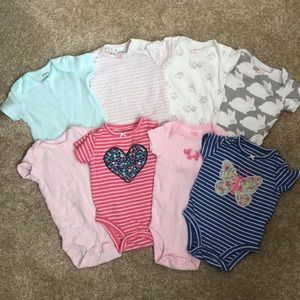 Carter's Lot of 8 Baby Girl 3 Month Onesies